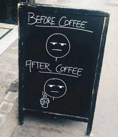 Pretty much. #tuesdaymotivation #coffee #caffeine #coffeebeans #espresso #mocha #latte #cheers #drinkup #morning #wakeup #addicted #espressobeans #blackcoffee #weekday #work #goodmorning #funnycauseitstrue #coffeefunny #tuesday #tuesdaymorning #prettymuch #beforeafter #before #after #sandwichboard