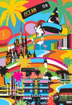 Florida - USA Pop Art #Popart