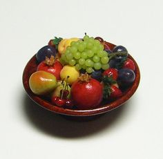 Bliss Miniatures on etsy, love the cherries and pomegranates!