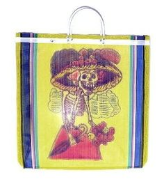 Day of the Dead Skeleton Mexican Mesh Market Bag