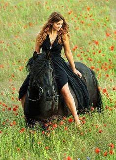 Son Cheval Avec Sa Cavaliere Sexy  C B Beautiful Horsespretty