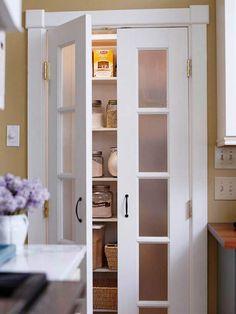 Frosted-Glass Pantry Door - potential for closet doors?