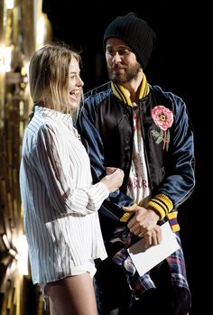 """"""" Margot Robbie and Jared Leto at the rehearsal for the 88th Annual Academy Awards in Los Angeles, California on Saturday, February 27th, 2016. """""""