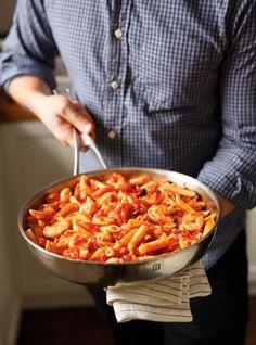 Pantry Penne (Shrimp and Olive Pasta) | RICARDO