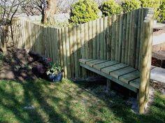 Great idea for a garden screen.