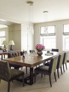Carrier and Company Company Portfolio, Dining Room, Dining Table, West End, Modern Prints, Best Interior, Traditional House, Furniture, Mirror Mirror