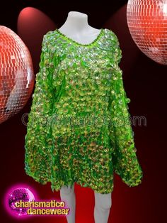 CHARISMATICO Bright green-winged ruffled drag queen dress with silver sequins Drag Queen Costumes, Drag Queen Outfits, Green Wing, Queen Dress, Silver Sequin, Unique Dresses, Bright Green, Dance Wear, Wings