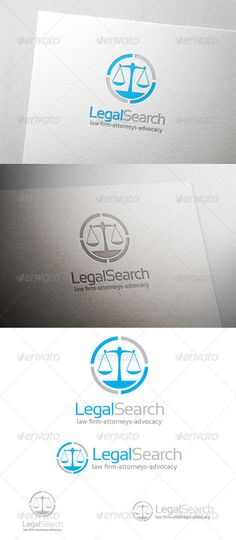 Legal Search - Logo Design Template Vector #logotype Download it here: http://graphicriver.net/item/legal-search-logo/6445078?s_rank=151?ref=nexion