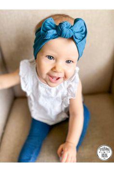Baby hairband headband dark blue jersey baby clothes baby hair band baby headband baby clothes clothing headband