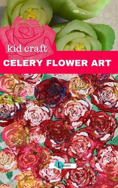 Looking for easy arts and crafts for kids? Have you looked in your vegetable drawer lately? If you have celery be sure to Check out this super easy celery flower art idea. You'll be amazed at the results. Plus it is an Easy craft activity for kids or adults. Fun Easy Crafts, Easy Arts And Crafts, Arts And Crafts Supplies, Creative Crafts, Celery Flower, Celery Plant, Flower Crafts, Flower Art, Craft Activities For Kids