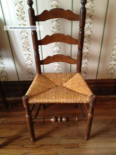 Delightful Antique Wood Chair With Cane Seat 1900 1950 Photo $30
