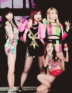 Park Bom, Minzy, CL, Dara (2NE1). These ladies made me happy through their music and gave me confidence, just when I needed it the most. That's why they're so special to me.