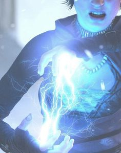 Electricity Generation/Electrogenesis: The ability to generate electricity. Sub-power of Electricity Manipulation, variation of Elemental Generation and Energy Generation. Witch Aesthetic, Character Aesthetic, Blue Aesthetic, Story Inspiration, Character Design Inspiration, Book Characters, Fantasy Characters, Lightning Powers, Thalia Grace