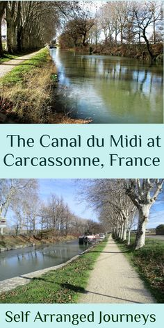 The Canal du Midi passes through the city of Carcassonne, and makes a pleasant stroll Great Places, Places To See, Le Canal Du Midi, Places In Europe, Short Break, Travel Articles, France Travel, Cool Pictures, Travel Destinations