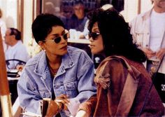 Angela Bassett and Whitney Houston as Bernadine Harris and Savannah Jackson in Waiting to Exhale (1995)