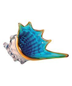 Another great find on #zulily! Blue & White Glass Seashell Figurine #zulilyfinds
