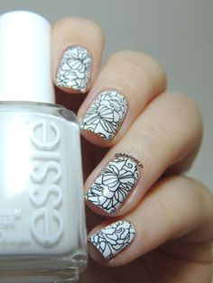 Marine Loves Polish: Nailstorming - Black and White
