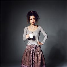 "Helena Bonham Carter: her face always says ""If you don't like what I'm wearing, well I really don't care!"""