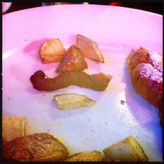 #Movember still life.  Breakfast bar not handlebar.  #bacon potatoes and french toast.