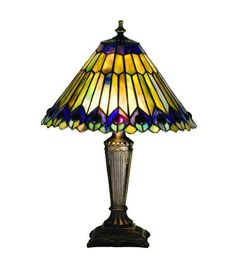 17 Inch H Jeweled Peacock Accent Lamp Table Lamps
