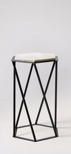 Shop for side tables at Swoon. From consoles to bedside tables, you'll be impressed by our exclusive range of contemporary side tables for the living room or bedroom. Monochrome Interior, Contemporary Side Tables, Interior Stylist, Black Marble, Design Crafts, Snug, Living Spaces, Stool, Surface
