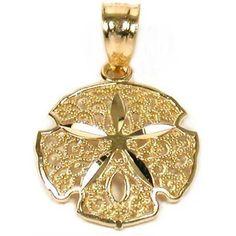 14K Gold Sand Dollar Pendant Charm Necklace Sea Jewelry FindingKing http://smile.amazon.com/dp/B000P0QX3S/ref=cm_sw_r_pi_dp_vdO1vb00H5BT9