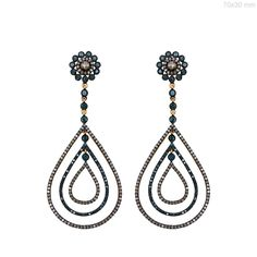 Sterling Silver 4.1ct Diamond Pave Dangle Earrings 14k Gold Jewelry NEW ARRIVALS #Handmade