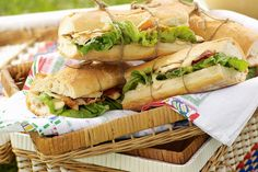 Pack your picnic basket with these fresh baguettes tied up with string, then simply unwrap and dig in.