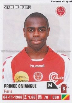 N°352 Prince Oniangue Congo Stade Reims Sticker Foot 2014 Panini | eBay