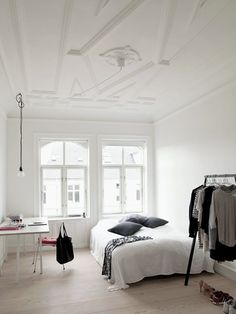 черно белая комната фото дизайн интерьер