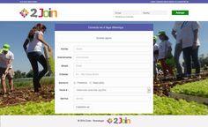 Criação de Interface com usabilidade da página virtual do Projeto Acadêmico 2Join no ano de 2014.