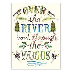 Bring life to your bare walls with the whimsical Over the River and Through the Woods Wheatpaste Wall Art from GreenBox Art. This removable wall sticker features Over the River and Through Woods over a nature-inspired backdrop. Free shipping on orders over $29.