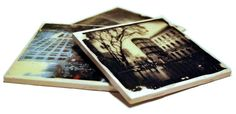 Photo transfer to tile, mirror or glass  http://nonphotography.com/blog/photo-craft-projects/image-transfer/photo-transfer-to-ceramic-tile/