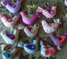 Uccellini colorati per il battesimo di Olivia.
