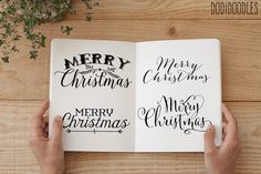 Christmas Text Overlays by Dodi Doodles on Creative Market