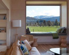 Modern Window Seat - Native Home Garden Design Modern Window Seat, Modern Windows, Window Seats, Window View, Living Room Interior, Home Decor Bedroom, Interior Modern, Home Interior Design, Modern Interiors