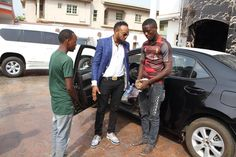 Shoe-rack hawker returns with mum 16-months after to thank Kcee for changing his life