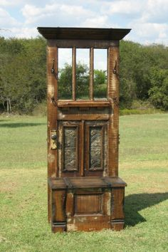 foyer....made out of old door! awesome