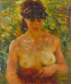Nude Torso in Sunlight  Marcel Dyf  (French)