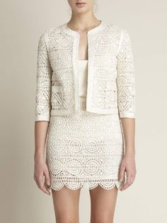 Crochet Lace Cropped Jacket  $595.00Now $238.00