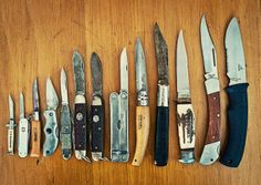 Pocket knives, an essential southern boy accessory