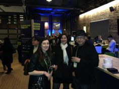 Jeffrey Hayzlett, host of C-Suite on Bloomberg TV, caught Virginie and Peter celebrating SMW NYC at our party earlier this week. #smwnyc #smw14 #besocial