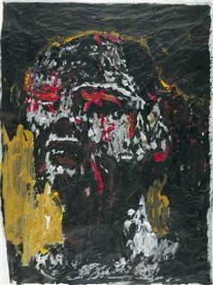 Ohne Titel (Kopf) By Hans Peter Adamski ,1983
