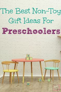 Fun Gift Ideas For Preschoolers That Aren't Toys - Beauty Through Imperfection