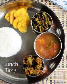 Puli saru, Brinjal poriyal, vendakkai poriyal - Lunch menu 46 | RAK'S KITCHEN