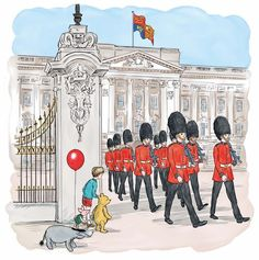 Pooh at the Palace by Mark Burgess; in the style of Pooh's original illustrator, Ernest Shepard
