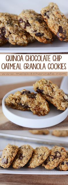 Take soft and delicious chocolate chip cookies to a whole new level with this amazing recipe for chocolate chip cookies loaded with quinoa and oatmeal! (Vegan Chocolate Chip)