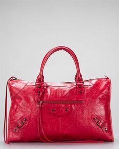 6fb17e628d71 Balenciaga Rouge Red Work Large Tote Bag Balenciaga Work