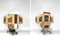 Camper Kart is a Tiny Home That Pops Out of a Shopping Cart