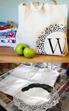 Monogrammed Tote from Woman's Day and 31 DIY Christmas Gift Ideas on Frugal Coupon Living.
